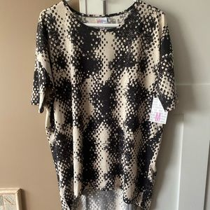 LulaRoe Medium Irma Black & Cream